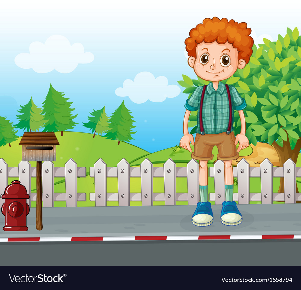A tall man standing at the street vector | Price: 3 Credit (USD $3)