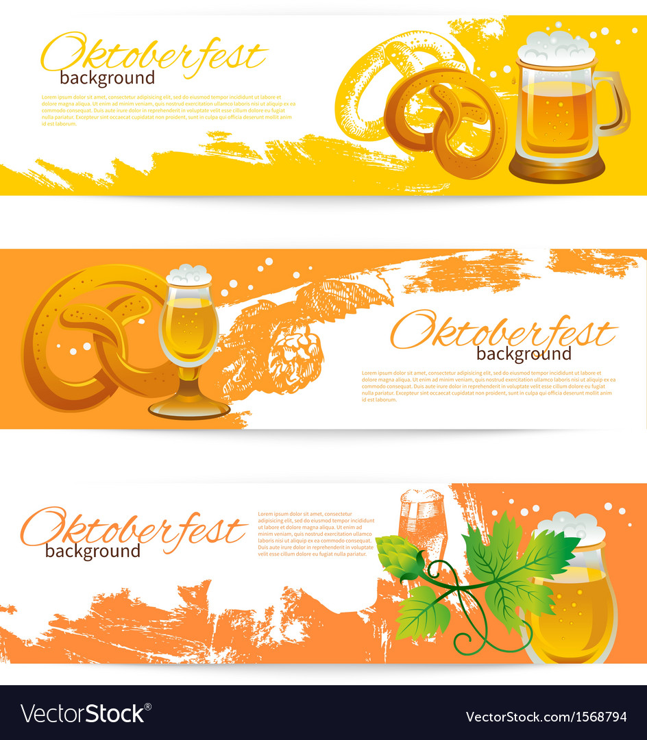 Banners of oktoberfest beer design vector | Price: 1 Credit (USD $1)