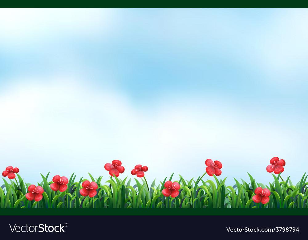 Blooming flowers vector   Price: 1 Credit (USD $1)