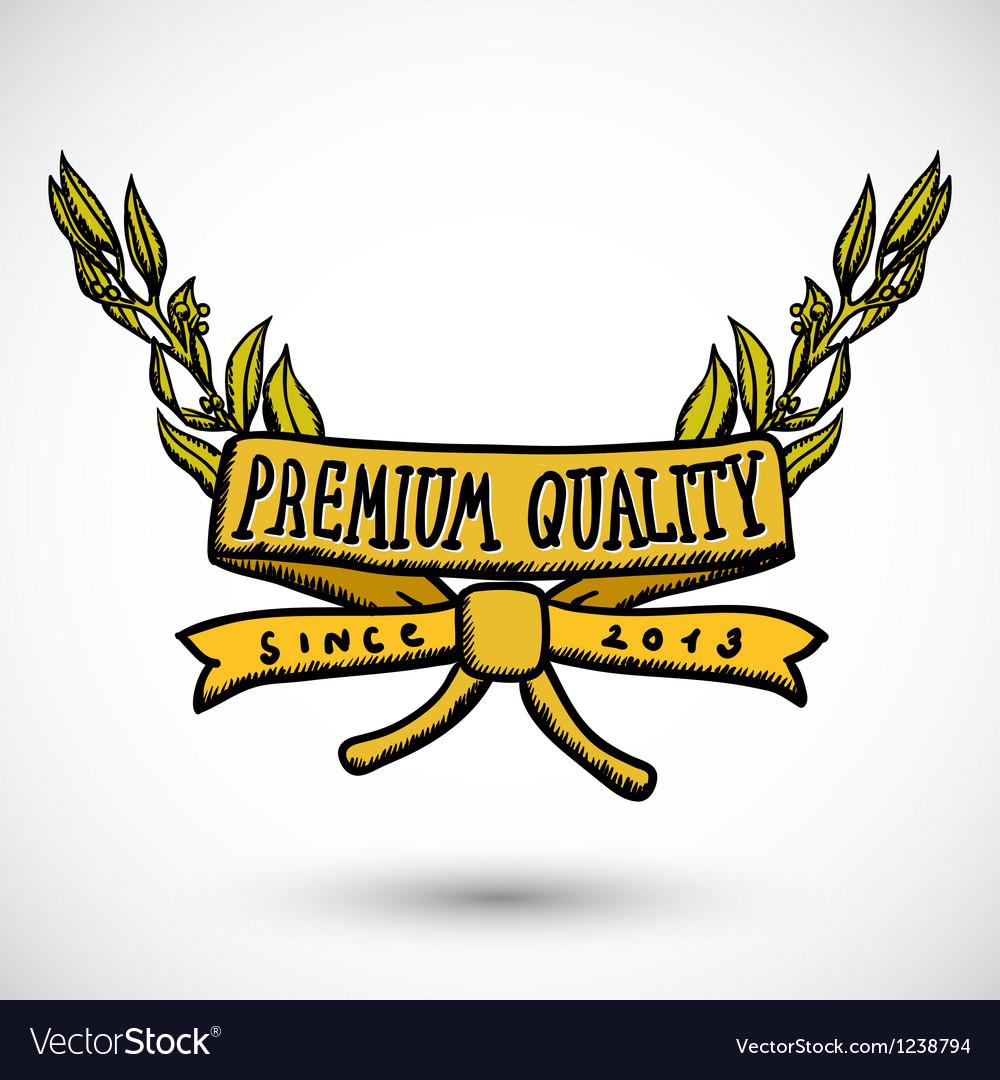 Doodle label premium quality vector | Price: 1 Credit (USD $1)