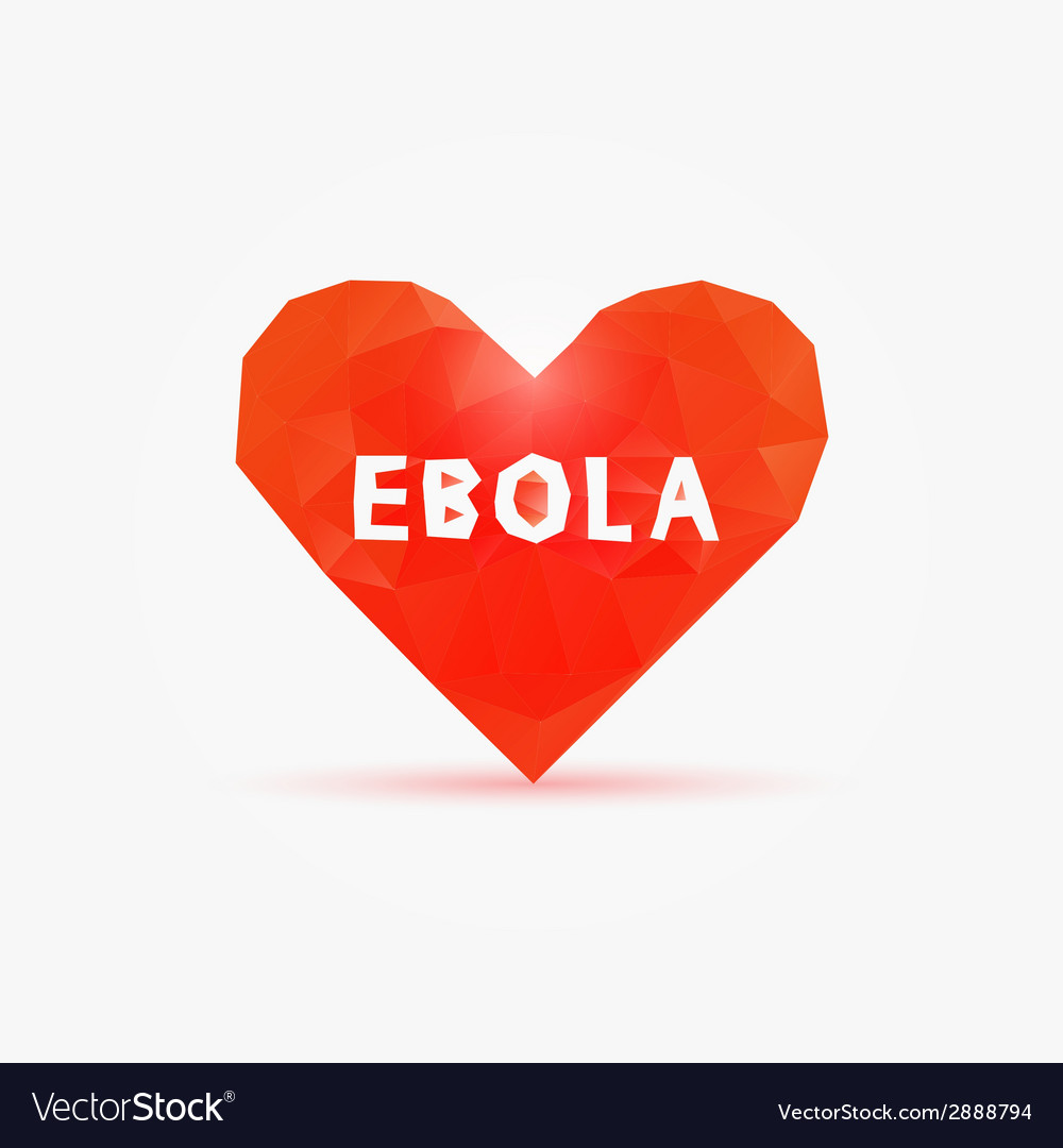 Ebola virus in poly heart vector | Price: 1 Credit (USD $1)