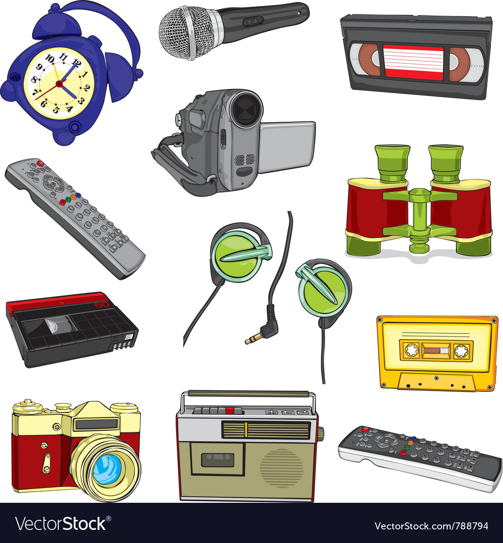 Entertainment items vector | Price: 3 Credit (USD $3)