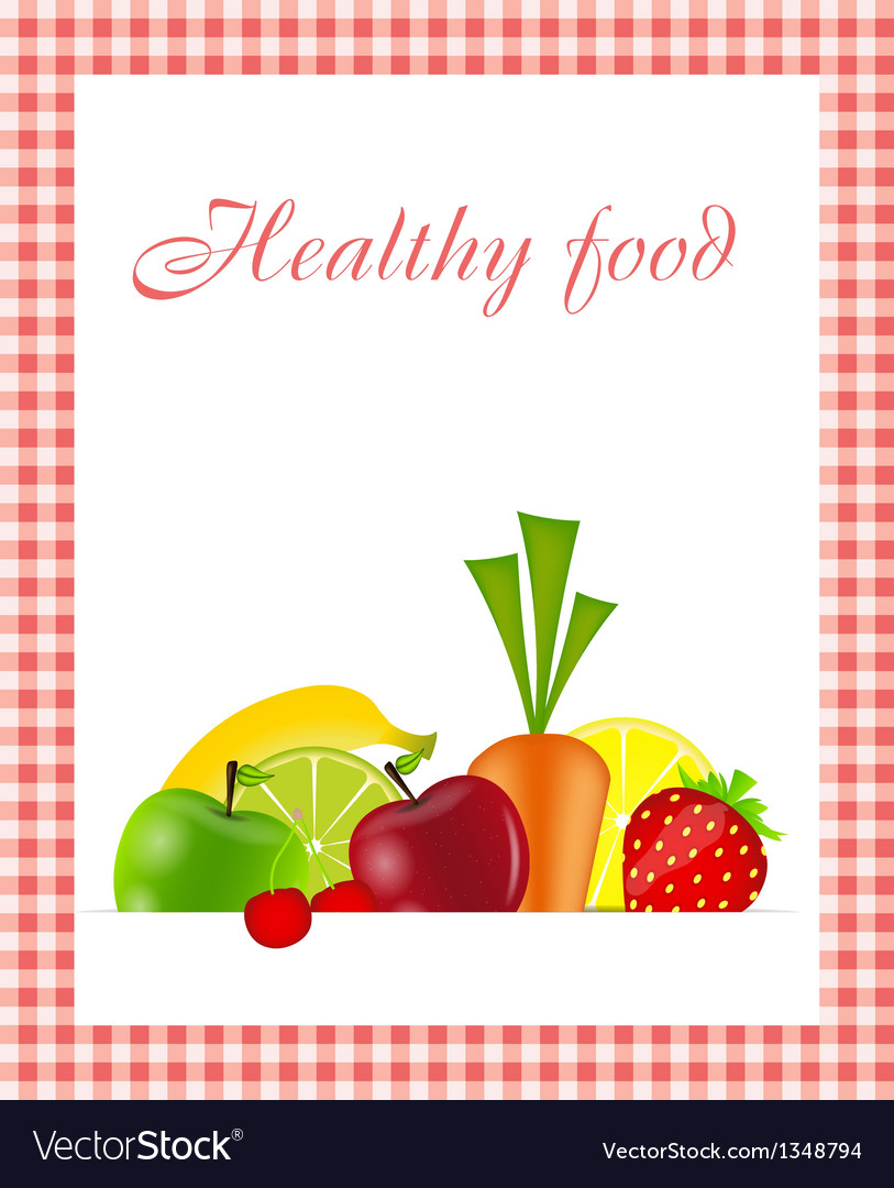 Healthy food menu template vector | Price: 1 Credit (USD $1)