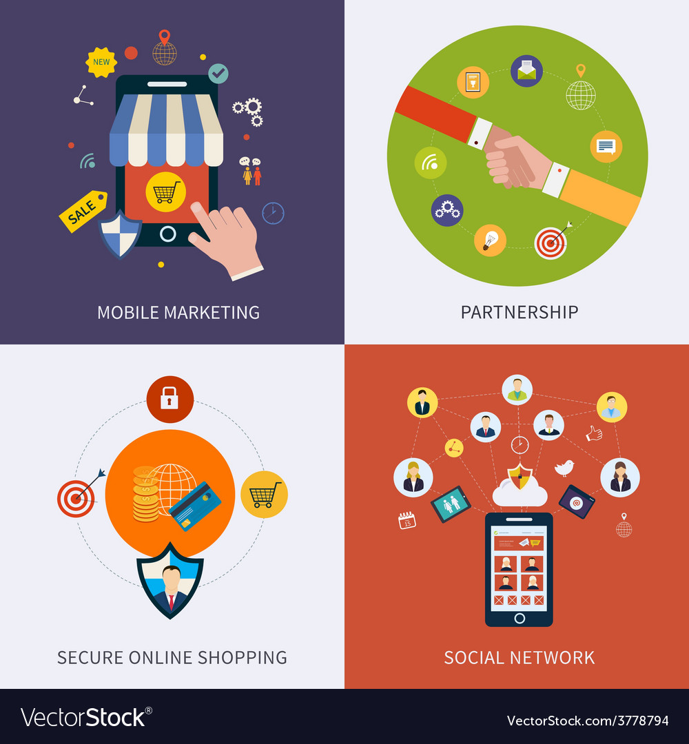Icons for social network vector | Price: 1 Credit (USD $1)