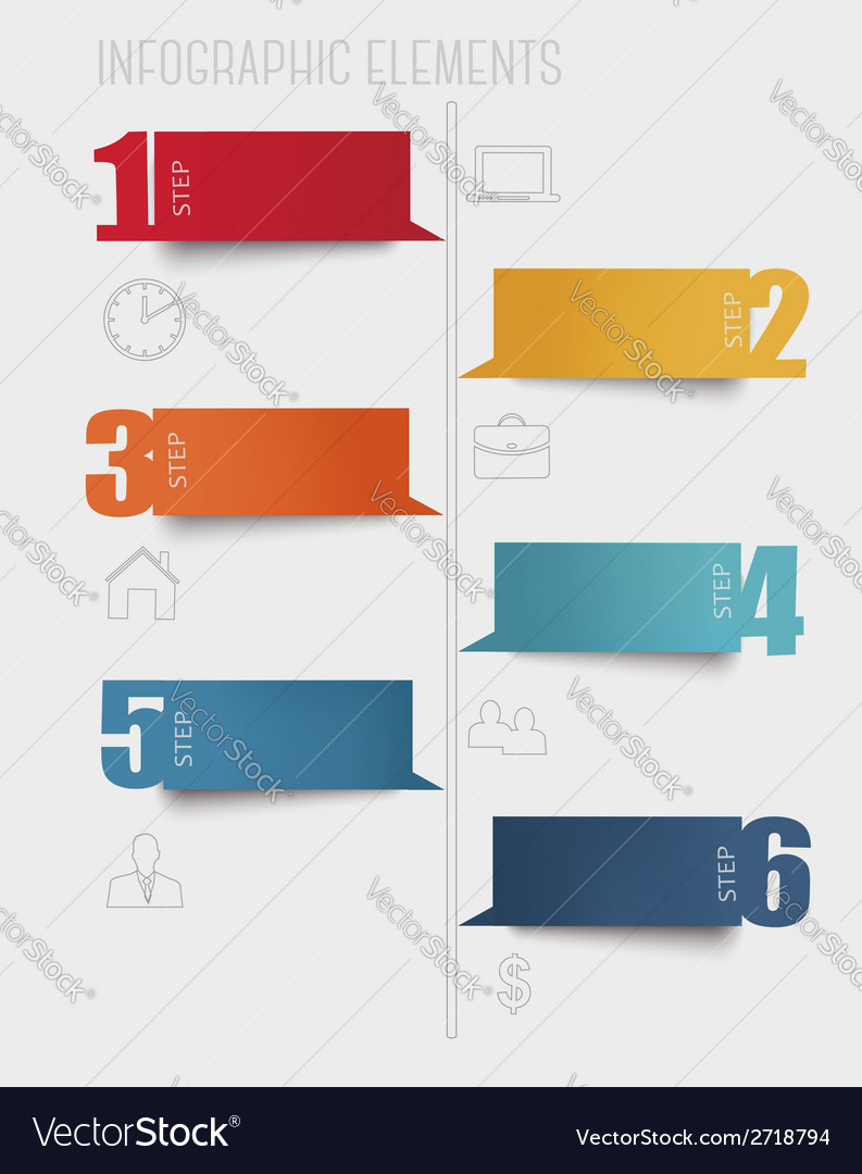 Info graphics banners with numbers and letters vector | Price: 1 Credit (USD $1)