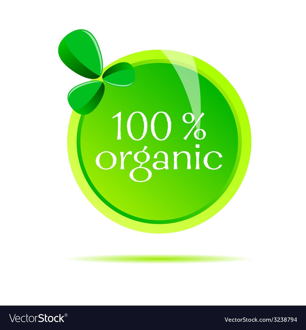 Organic sign vector | Price: 1 Credit (USD $1)