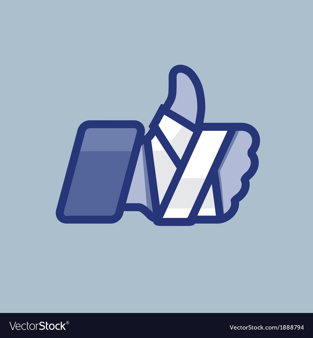 Repaired bandaged arm thumb up vector | Price: 1 Credit (USD $1)