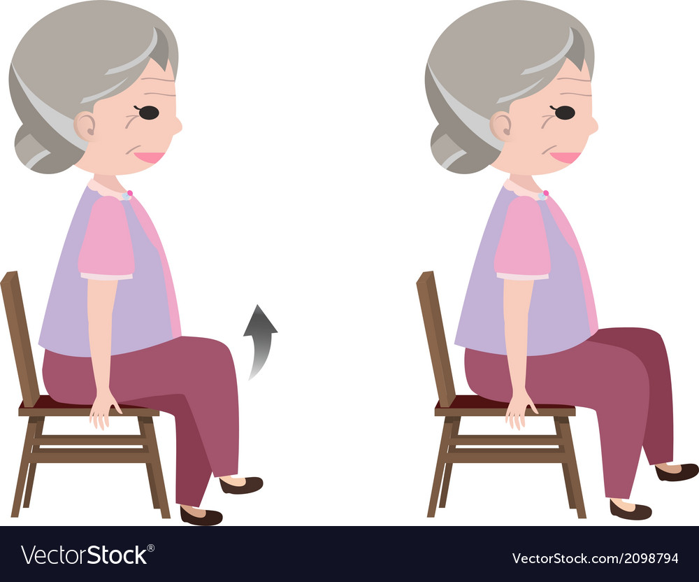 Seated march posture exercise vector | Price: 1 Credit (USD $1)