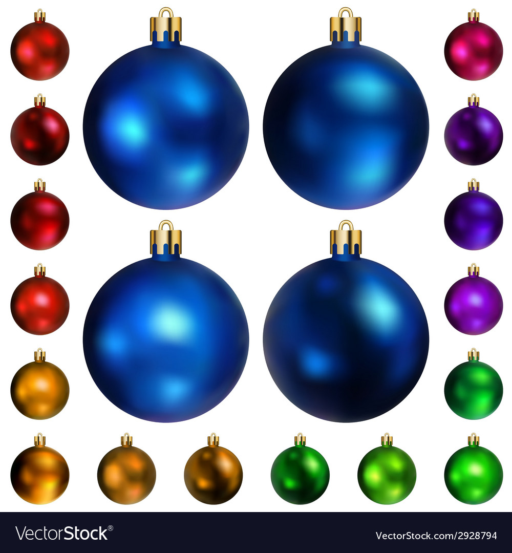 Set of colored christmas balls vector | Price: 1 Credit (USD $1)