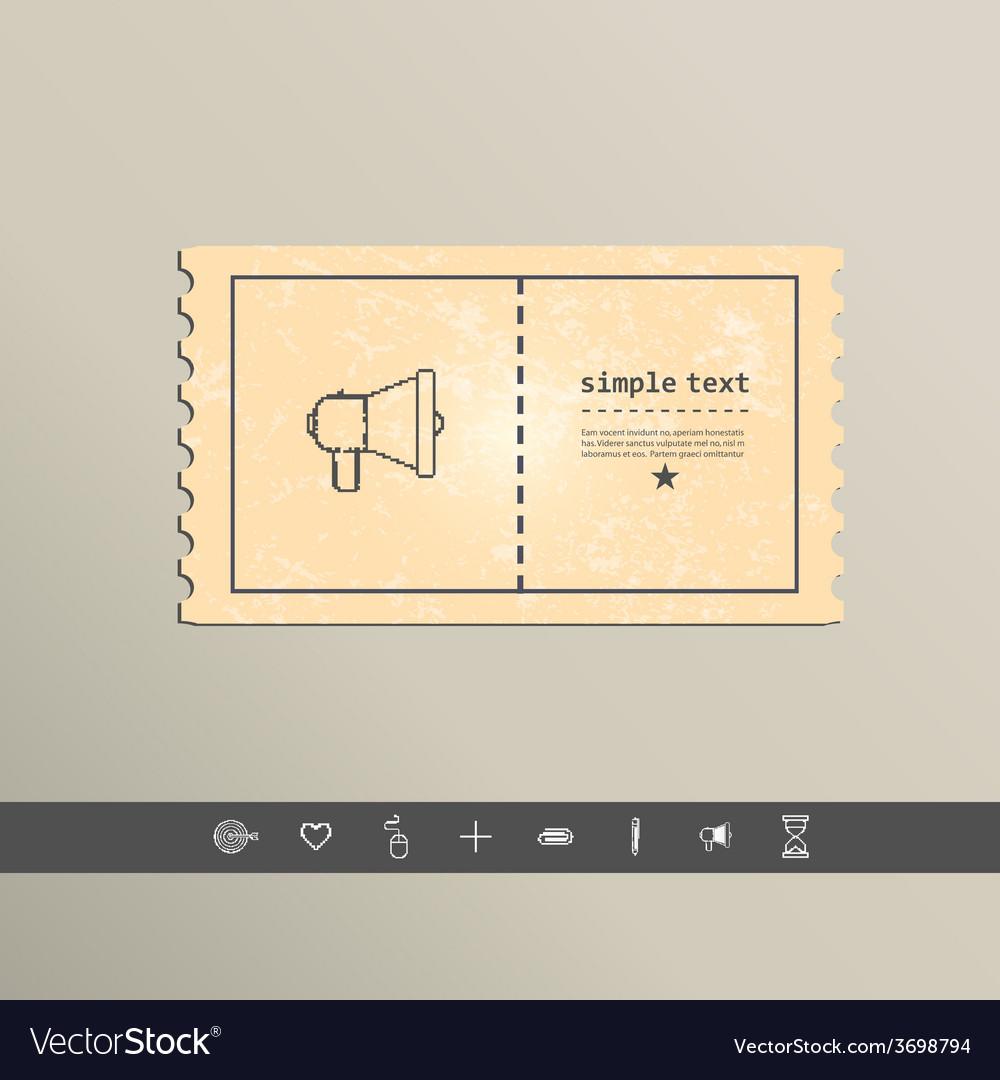 Simple stylish pixel speaker icon design vector | Price: 1 Credit (USD $1)