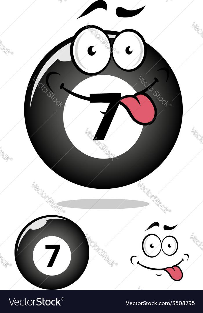 Billiard ball seven in cartoon format vector | Price: 1 Credit (USD $1)