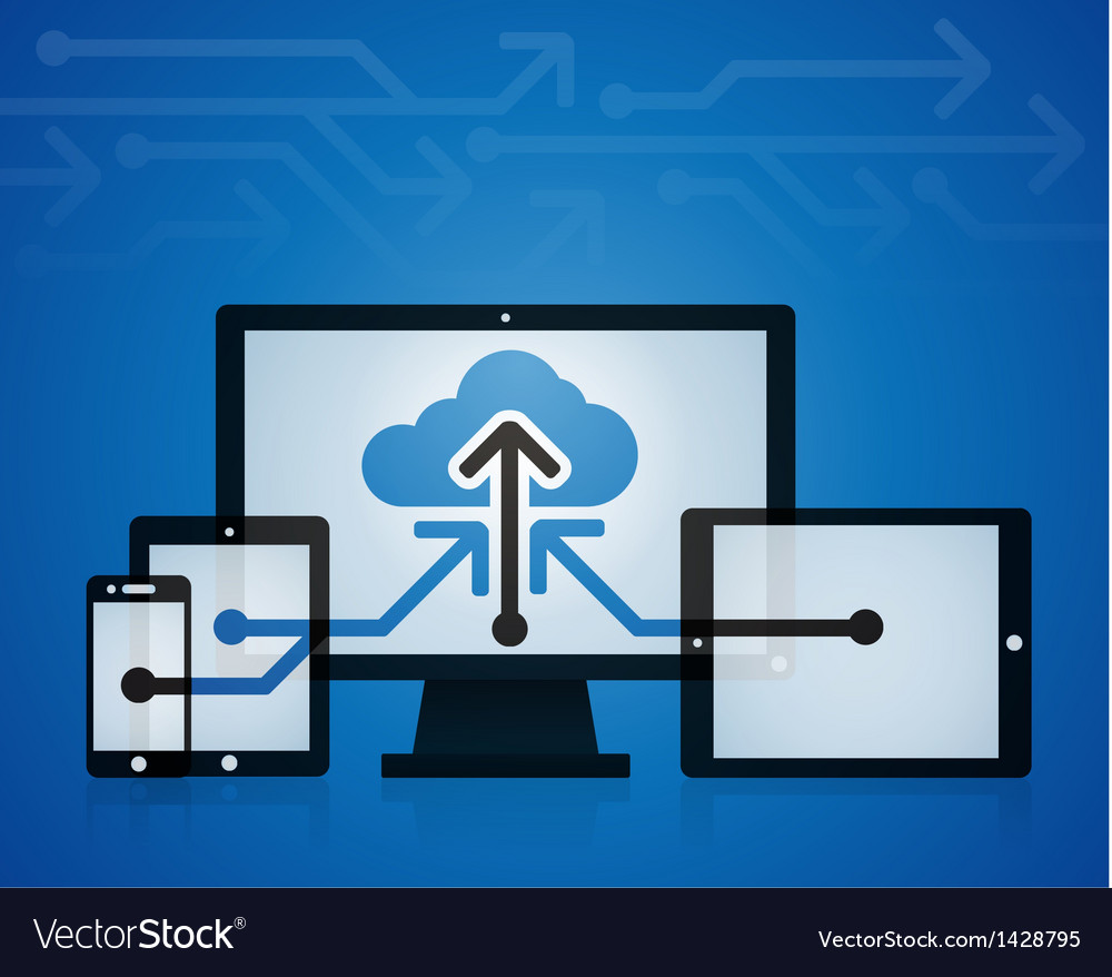 Cloud technology vector | Price: 1 Credit (USD $1)