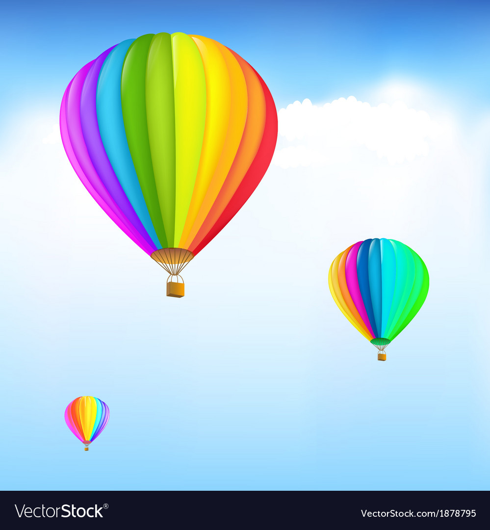 Colorful hot air balloons vector | Price: 1 Credit (USD $1)