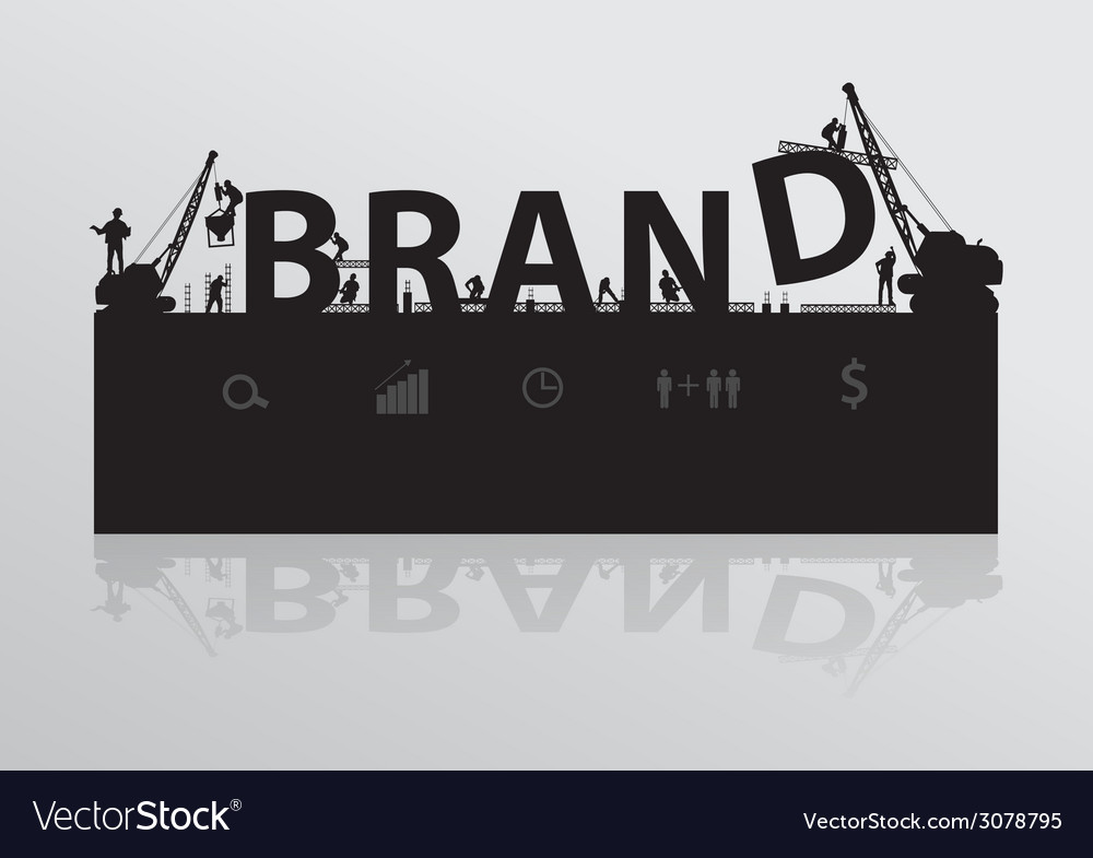 Construction site crane building brand text vector | Price: 1 Credit (USD $1)