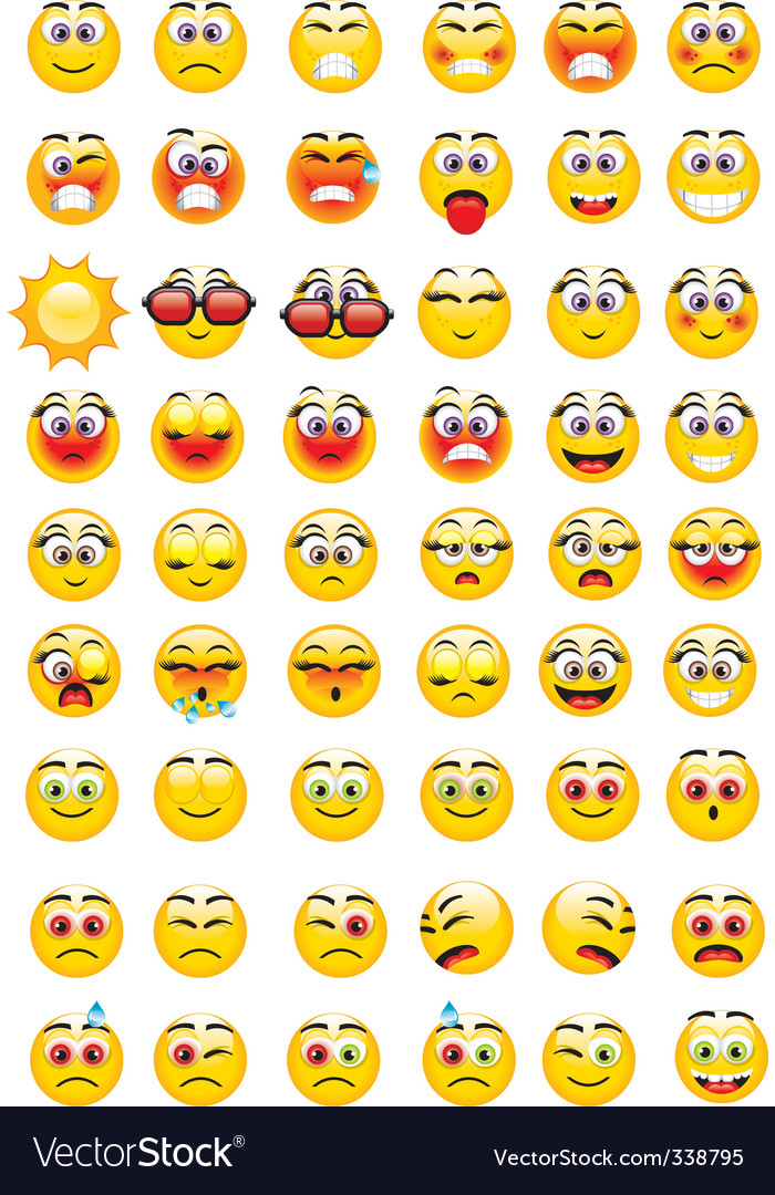 Emoticons expressions vector | Price: 3 Credit (USD $3)