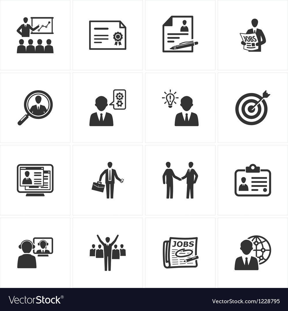 Employment and business icons vector | Price: 1 Credit (USD $1)