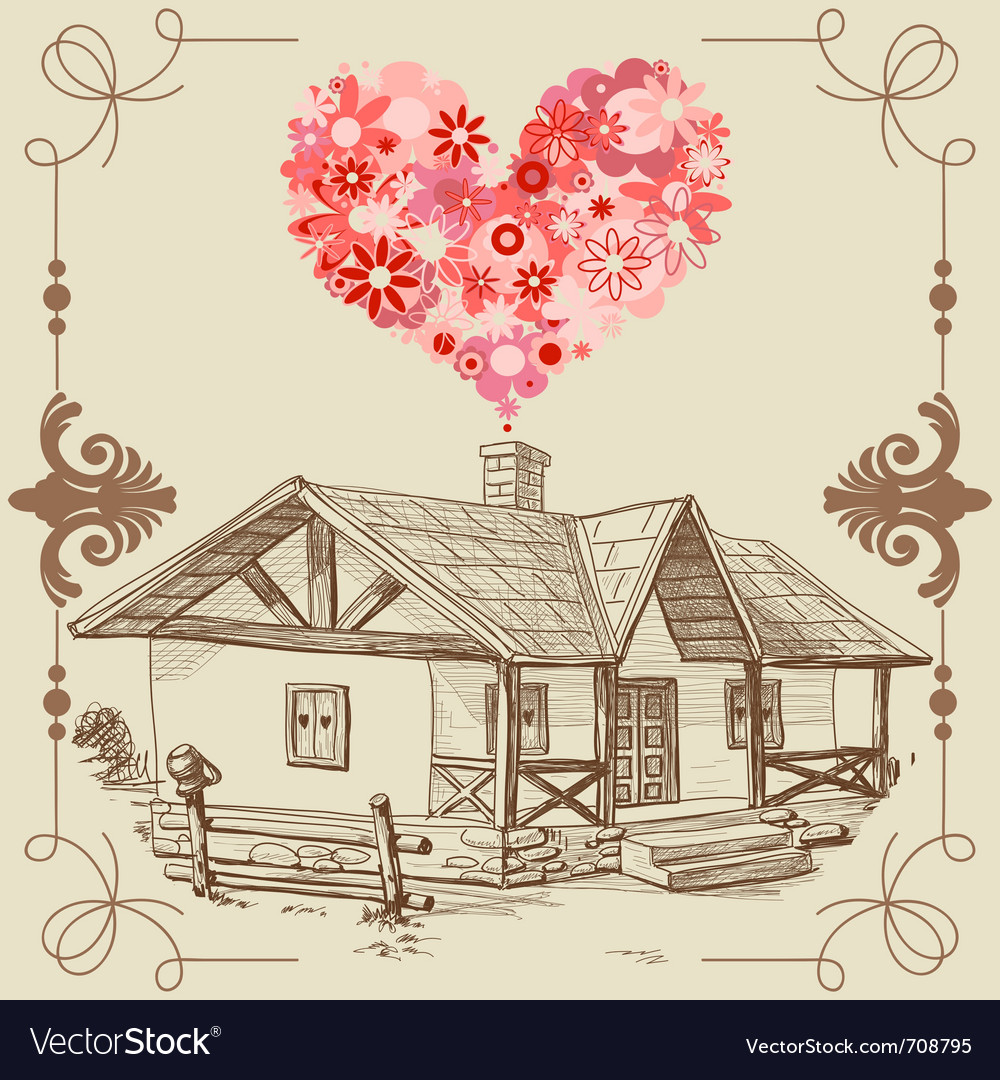 House of love vector | Price: 1 Credit (USD $1)