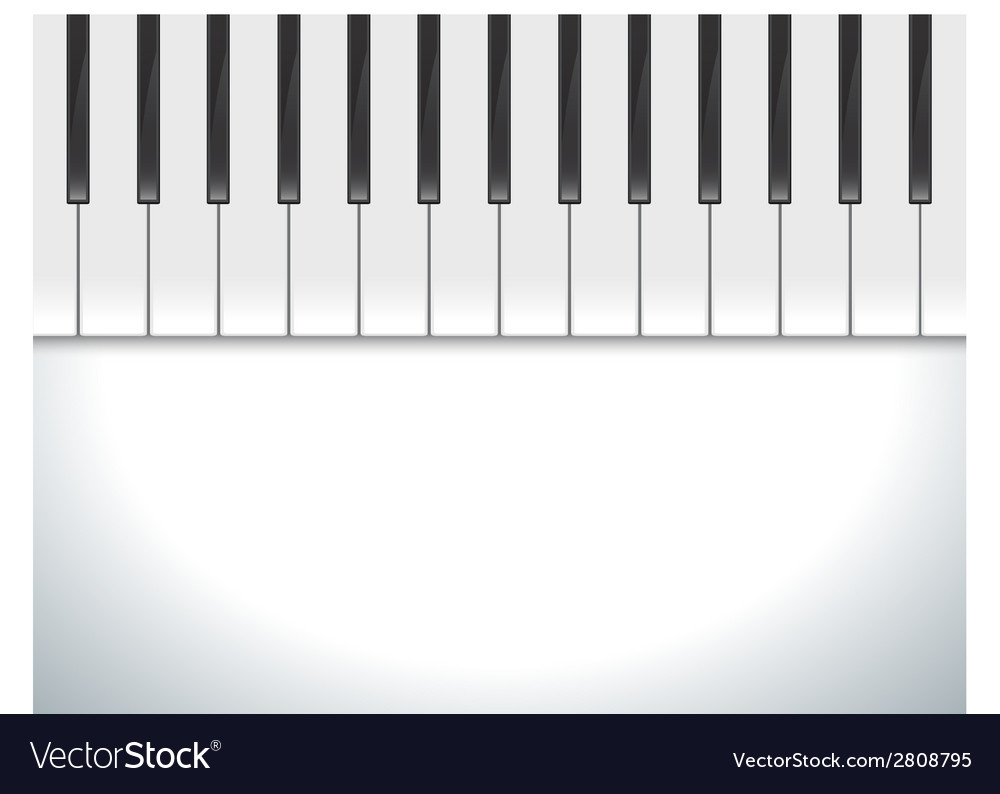 Keyboard piano vector | Price: 1 Credit (USD $1)