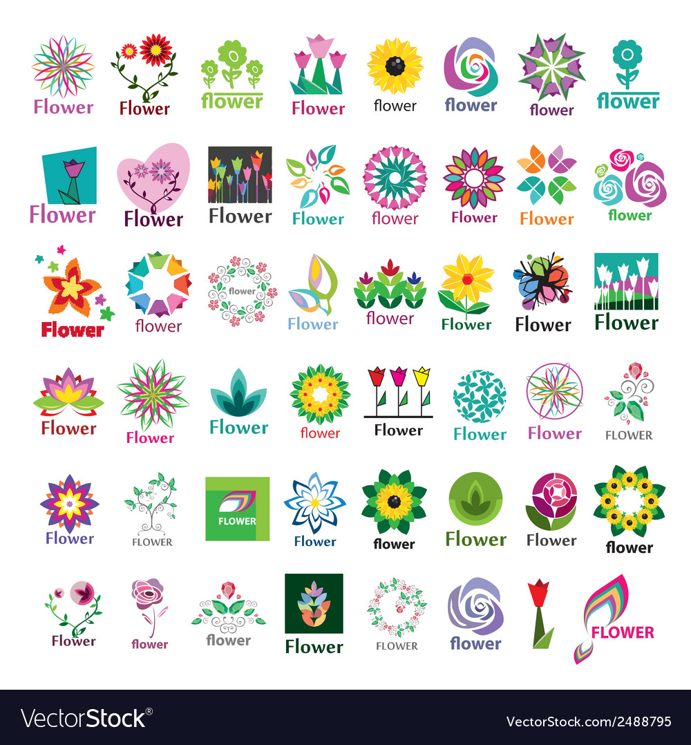 Large collection of floral logos vector | Price: 1 Credit (USD $1)