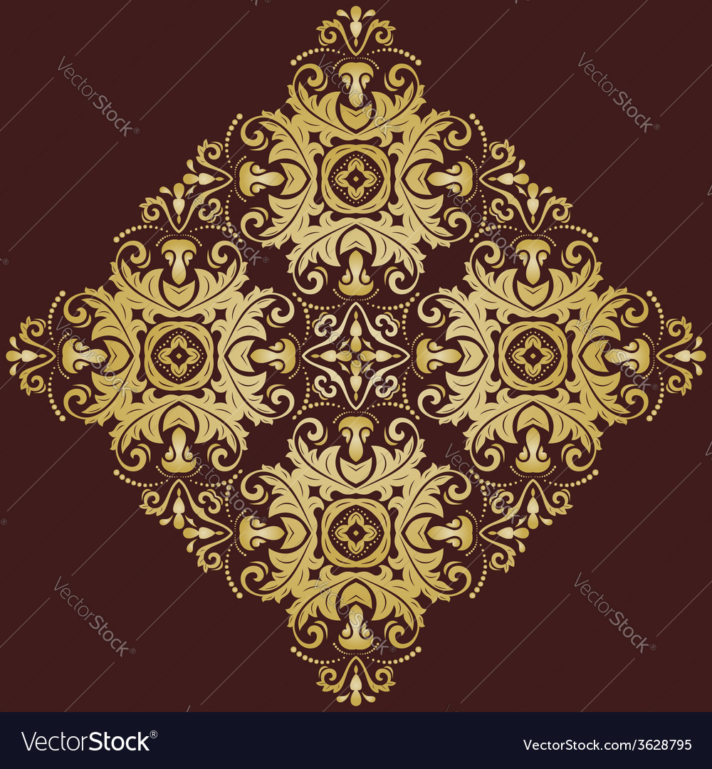 Orient pattern abstract ornament vector | Price: 1 Credit (USD $1)