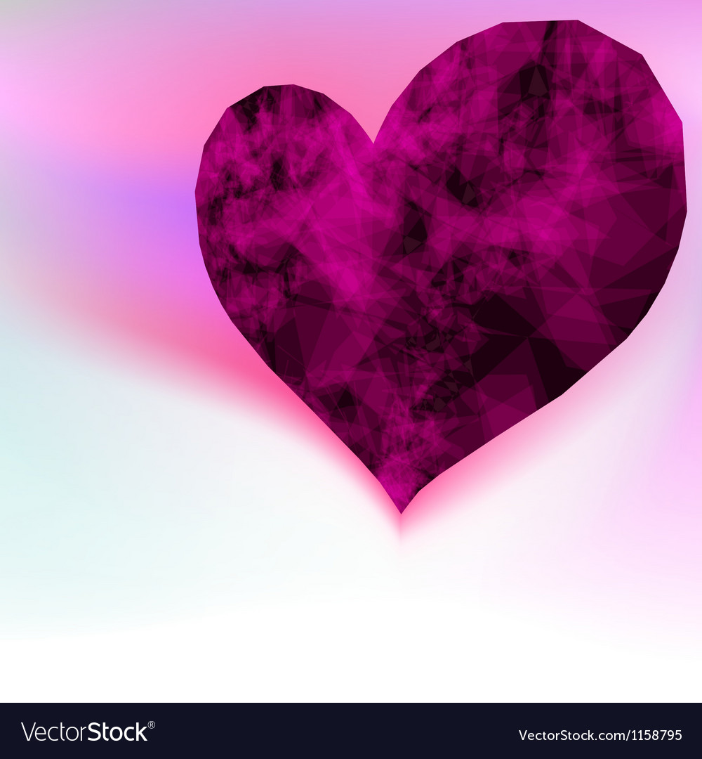 Ruby abstract purple heart  eps8 vector | Price: 1 Credit (USD $1)
