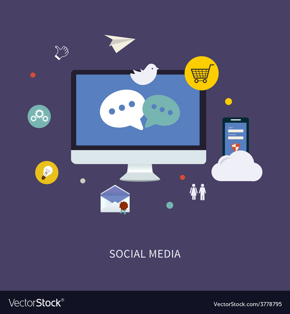 Social media icons vector | Price: 1 Credit (USD $1)