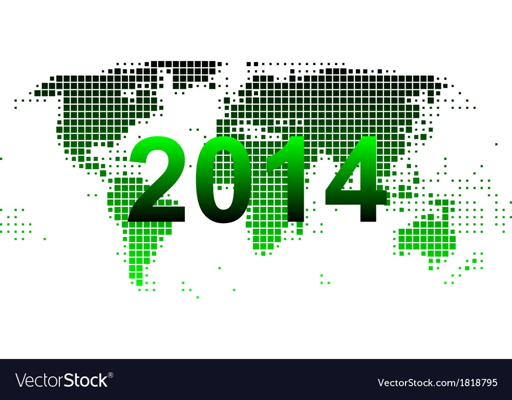 World map 2014 vector | Price: 1 Credit (USD $1)