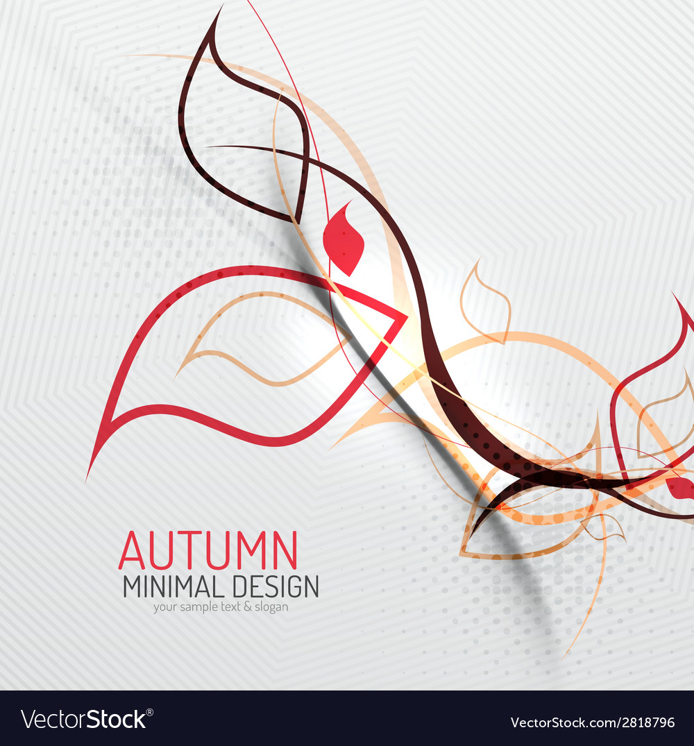 Autumn floral minimal background vector | Price: 1 Credit (USD $1)