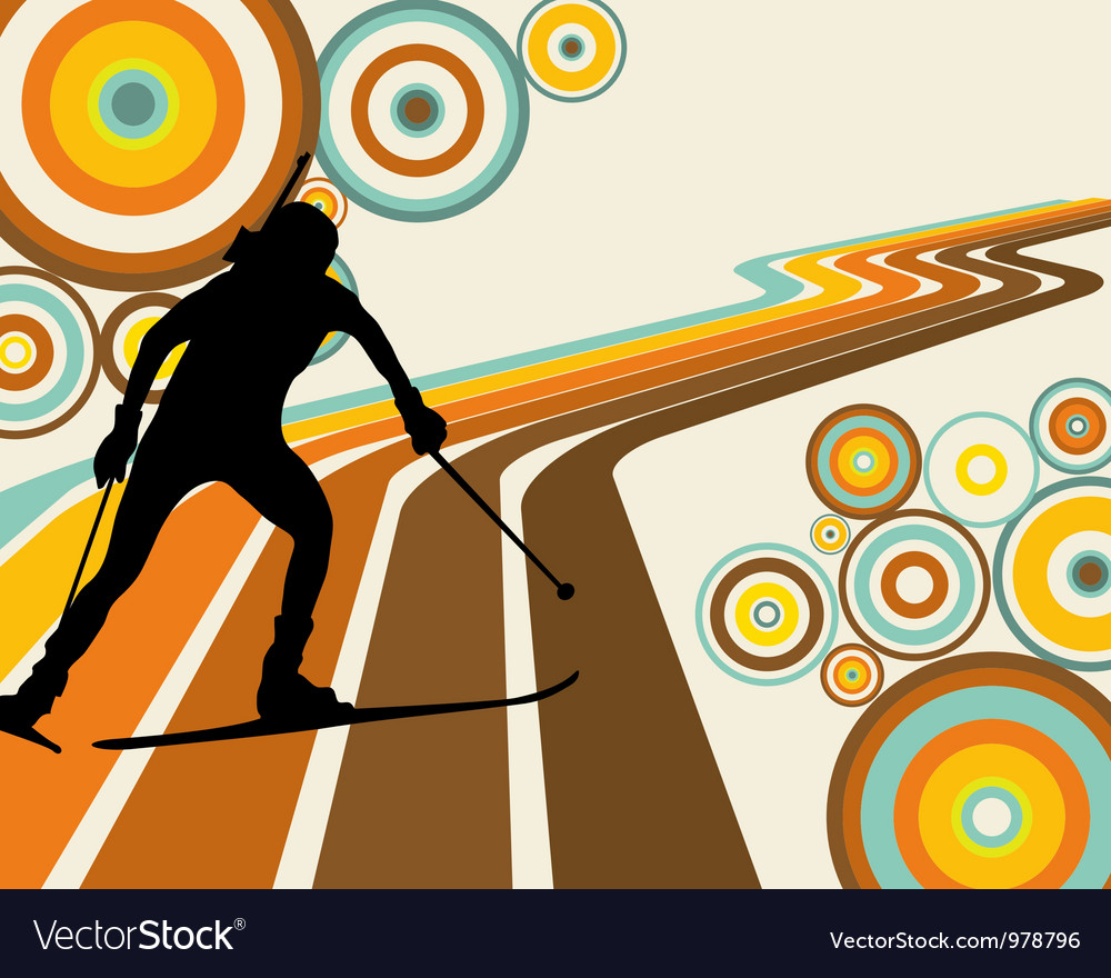 Biathlon background vector | Price: 1 Credit (USD $1)