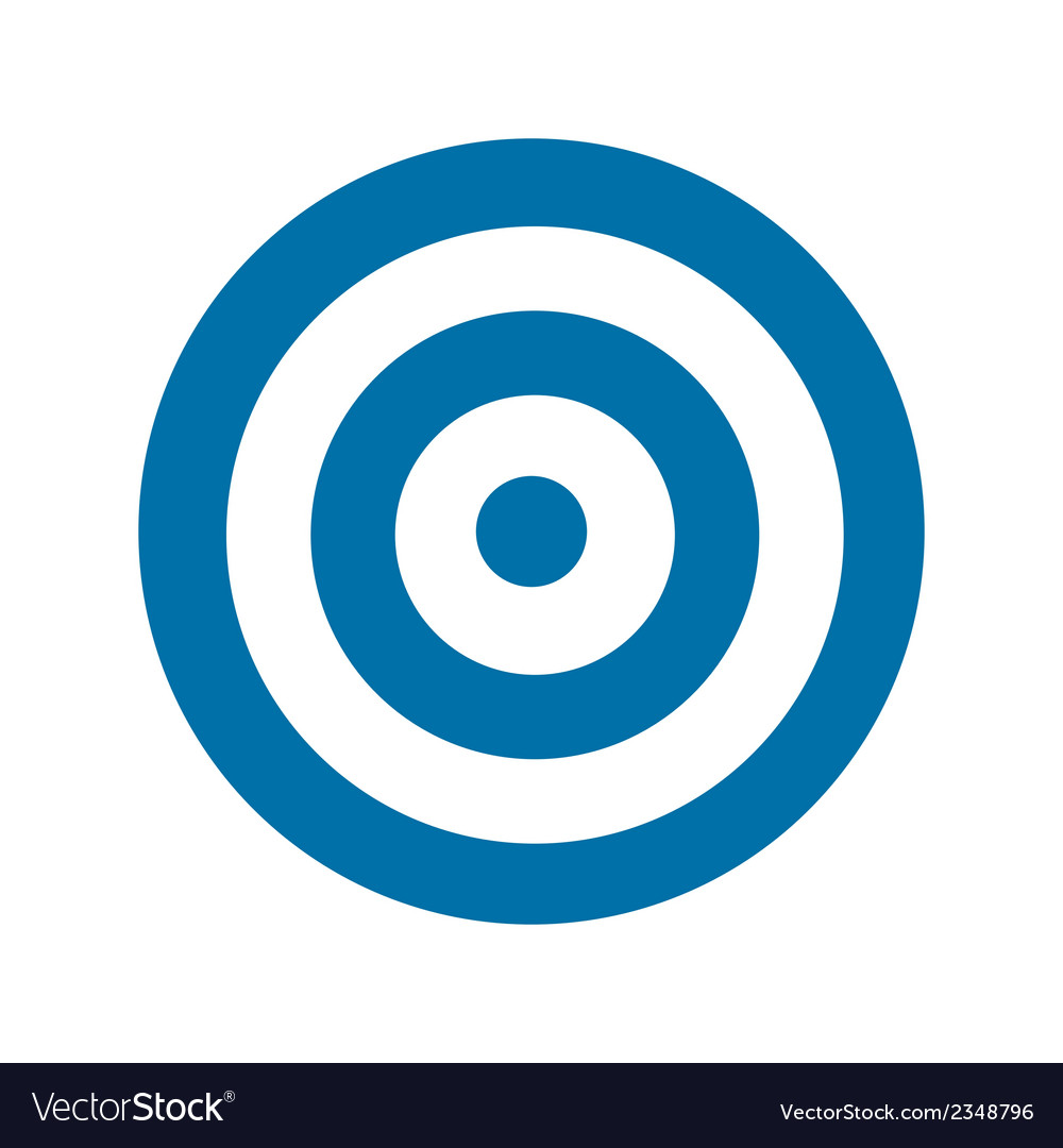 Blue target icon vector | Price: 1 Credit (USD $1)