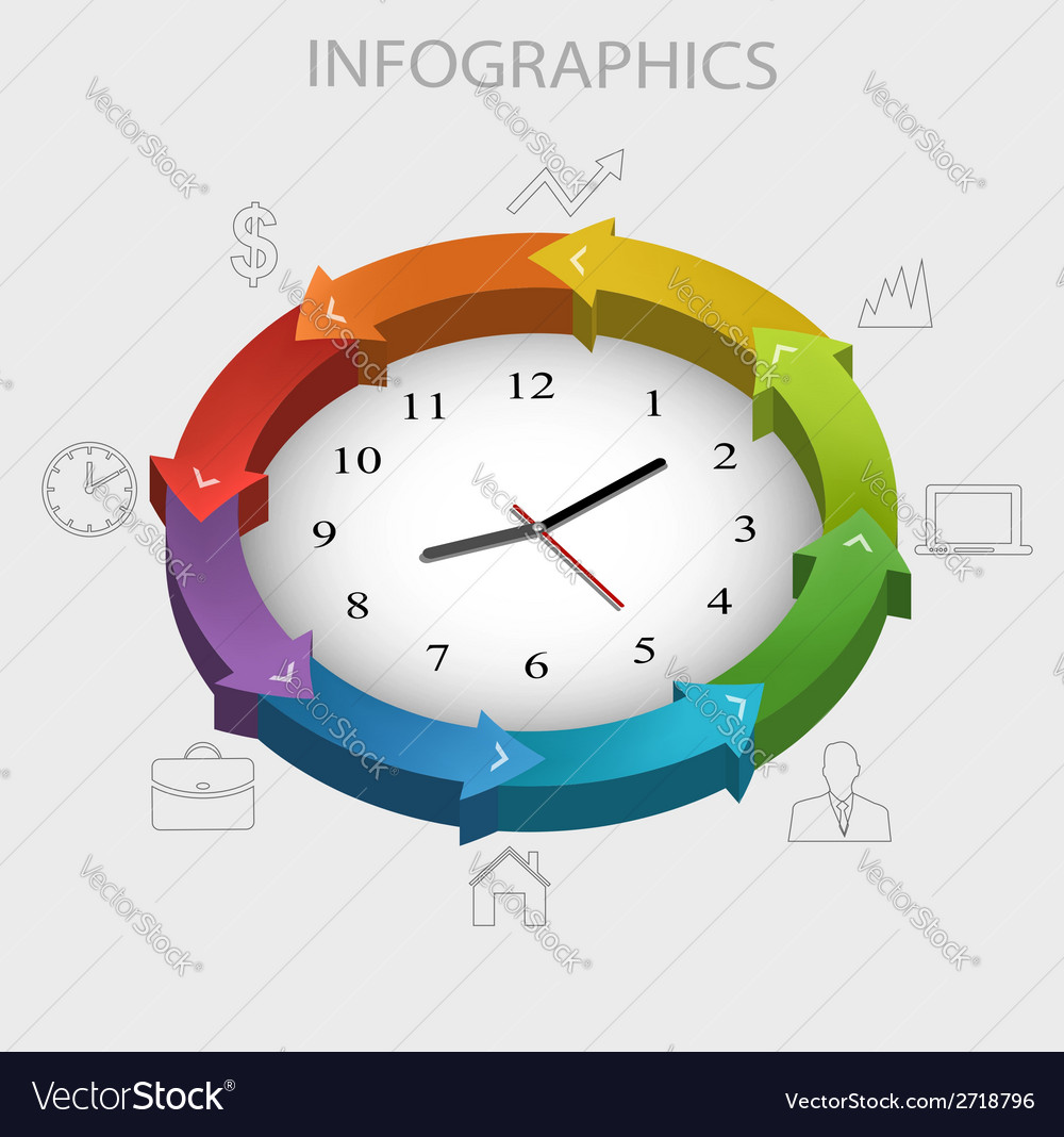 Business infographics template vector | Price: 1 Credit (USD $1)