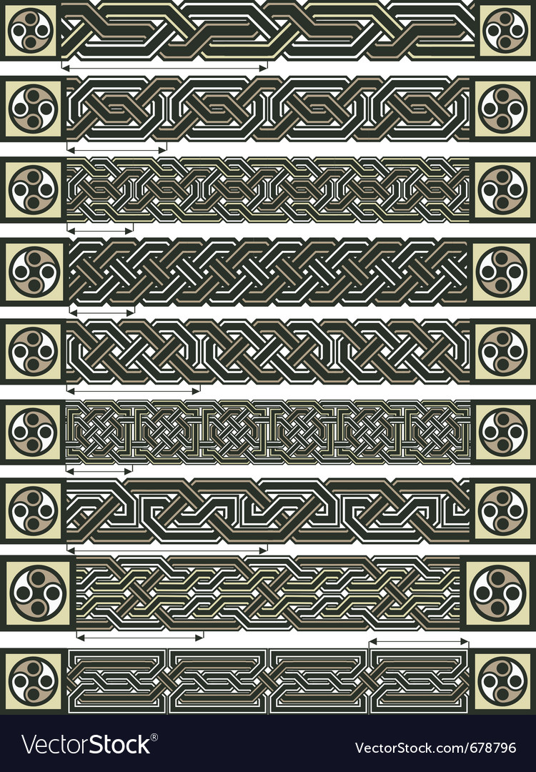 Celtic design borders vector | Price: 3 Credit (USD $3)