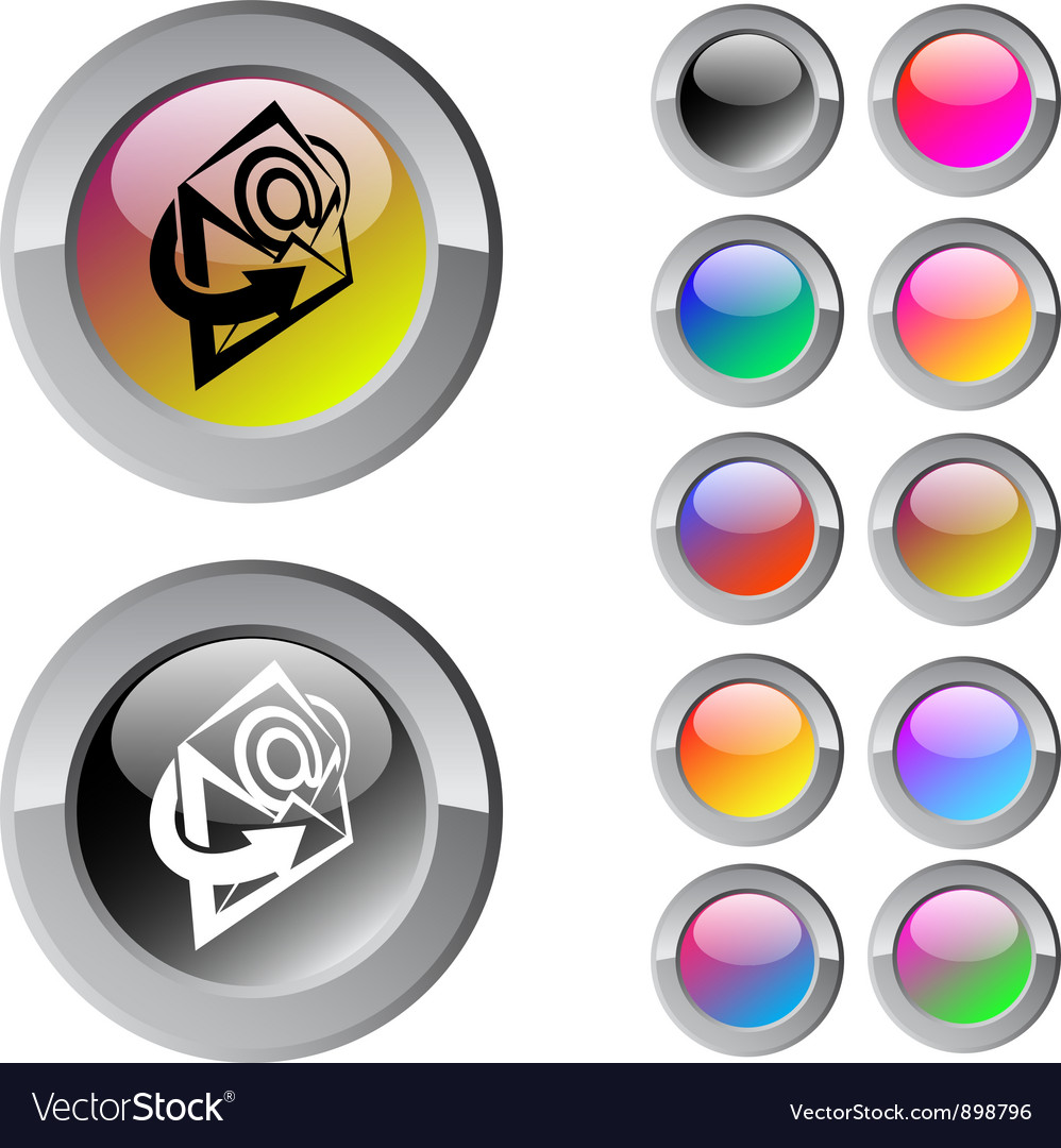 E-mail multicolor round button vector | Price: 1 Credit (USD $1)