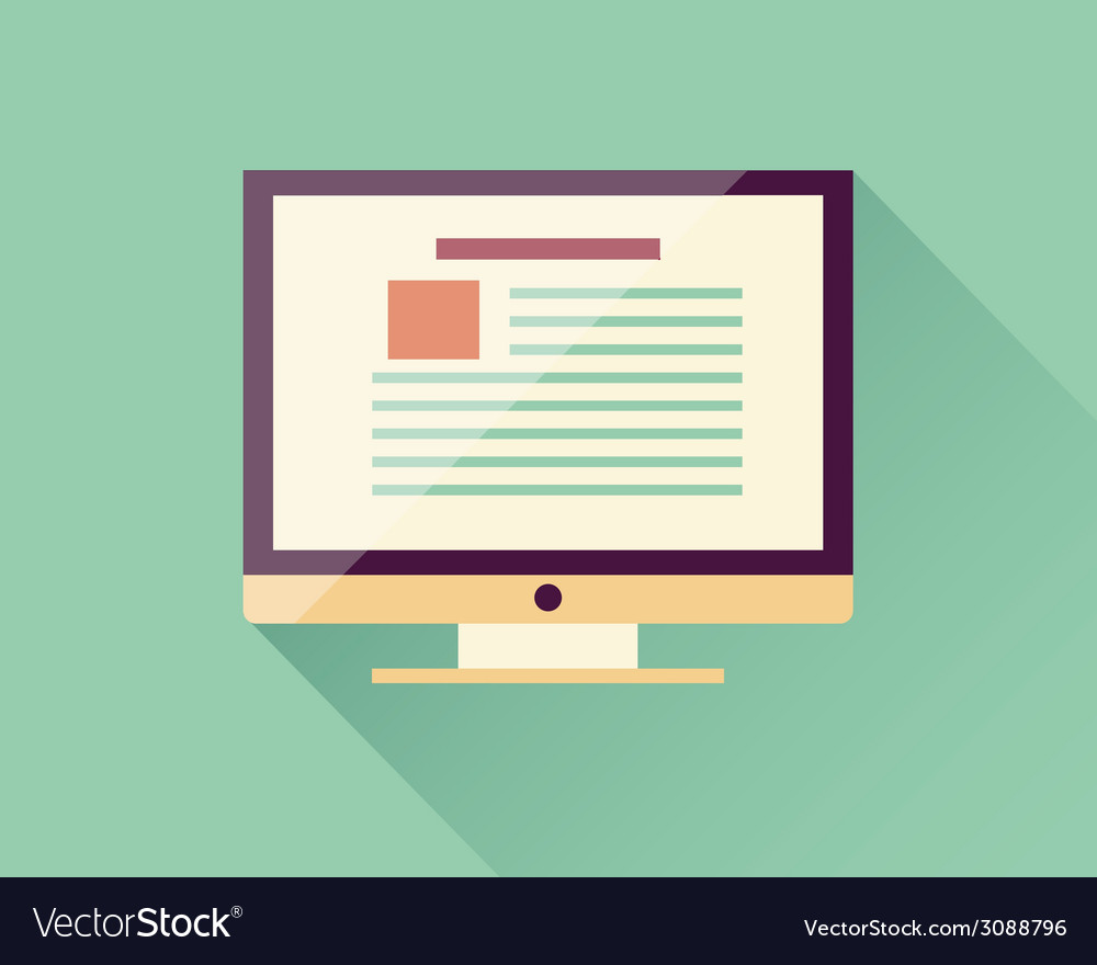 Flat icon computer electronic device vector | Price: 1 Credit (USD $1)
