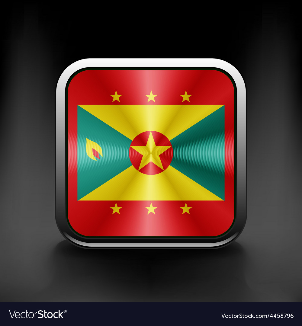 Grenada icon flag national travel icon country vector | Price: 1 Credit (USD $1)