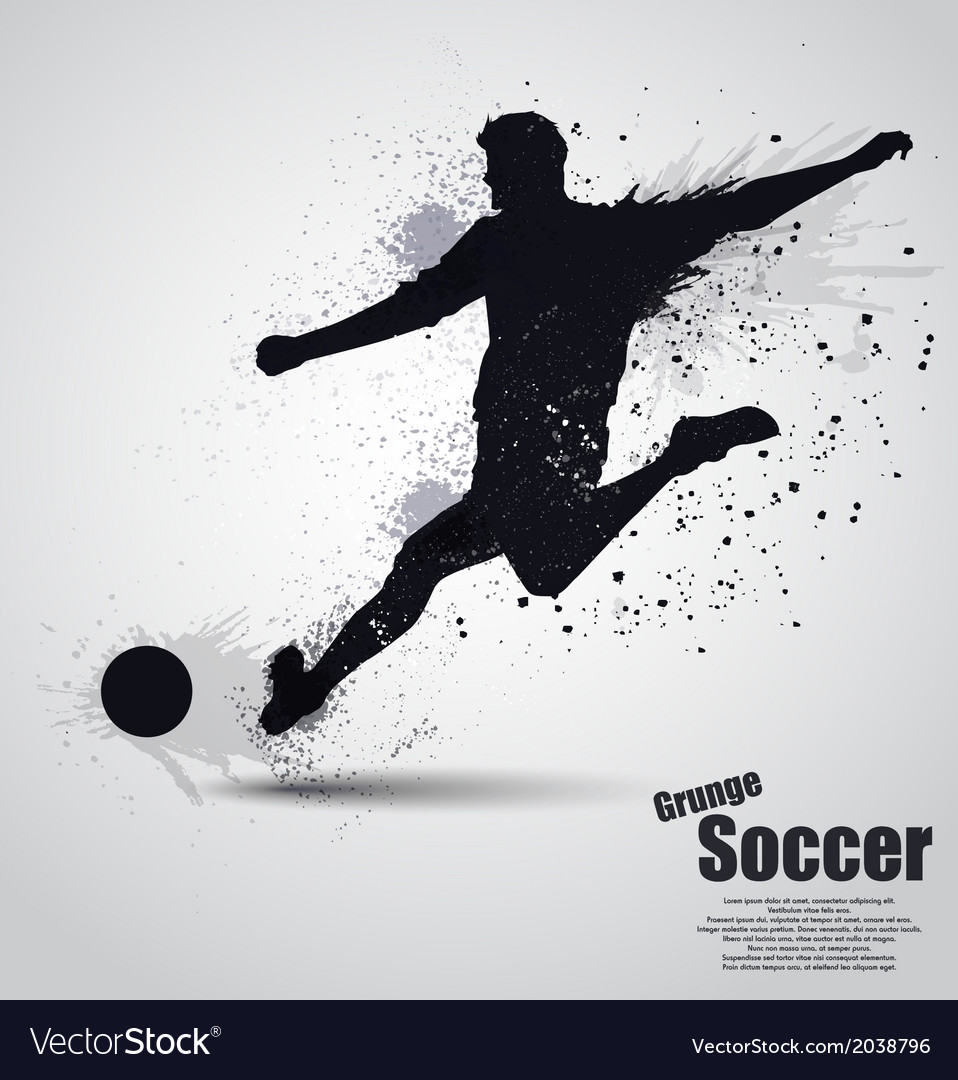 Grunge soccer player vector | Price: 1 Credit (USD $1)
