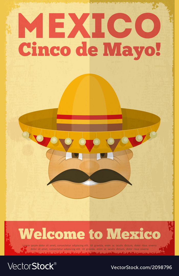 Mexican poster vector | Price: 1 Credit (USD $1)
