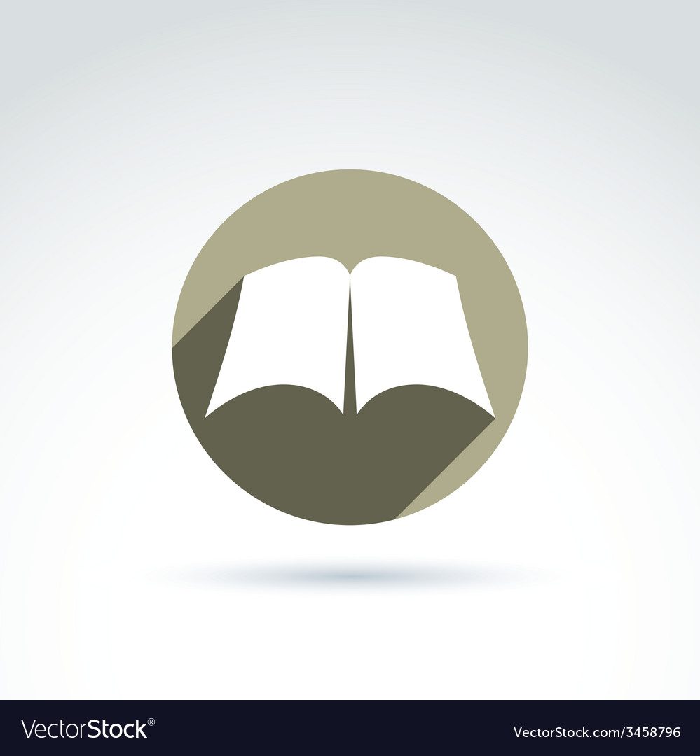 Open book with blank sheets placed in a circle vector | Price: 1 Credit (USD $1)