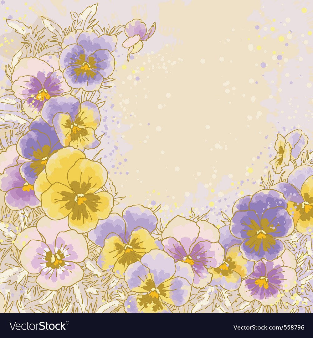 Pastel pansy vector | Price: 1 Credit (USD $1)