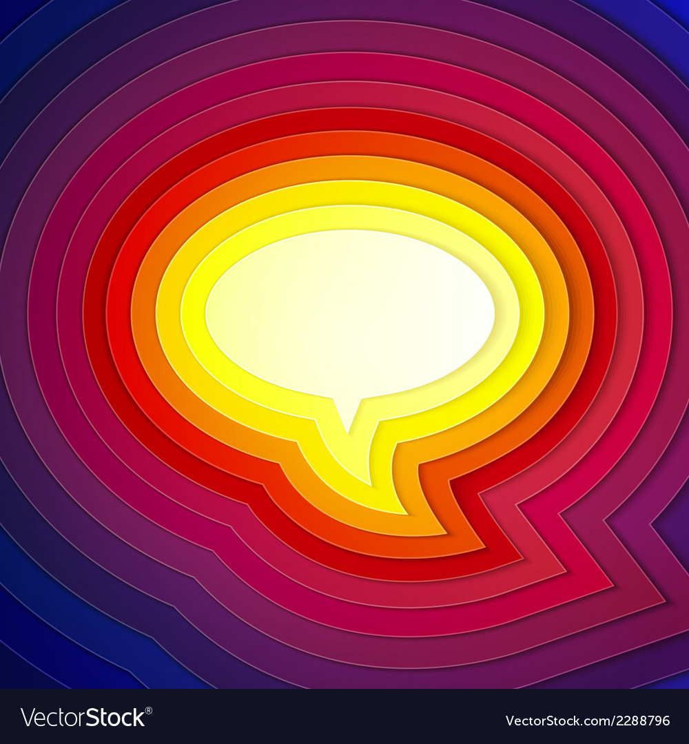 Rainbow paper layers chat bubble symbol vector | Price: 1 Credit (USD $1)