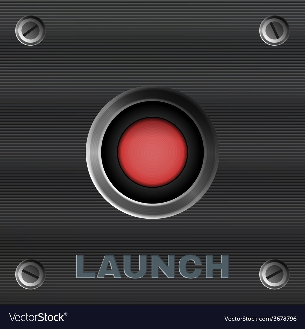 Red button launch vector | Price: 1 Credit (USD $1)