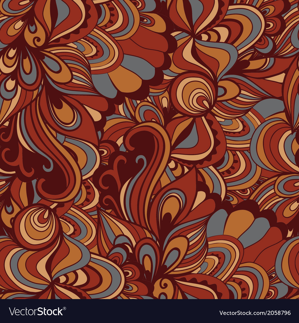 Seamless abstract hand-drawn waves pattern wavy vector | Price: 1 Credit (USD $1)