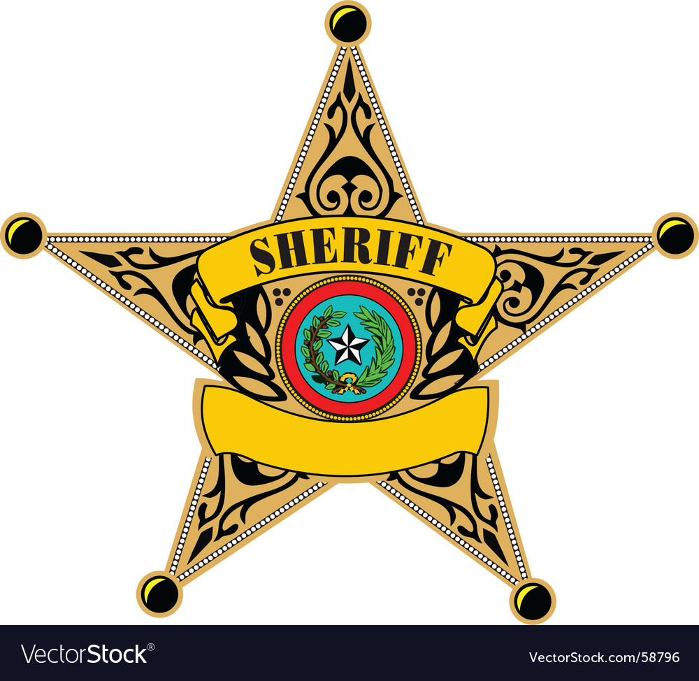 Sheriff badge vector | Price: 1 Credit (USD $1)