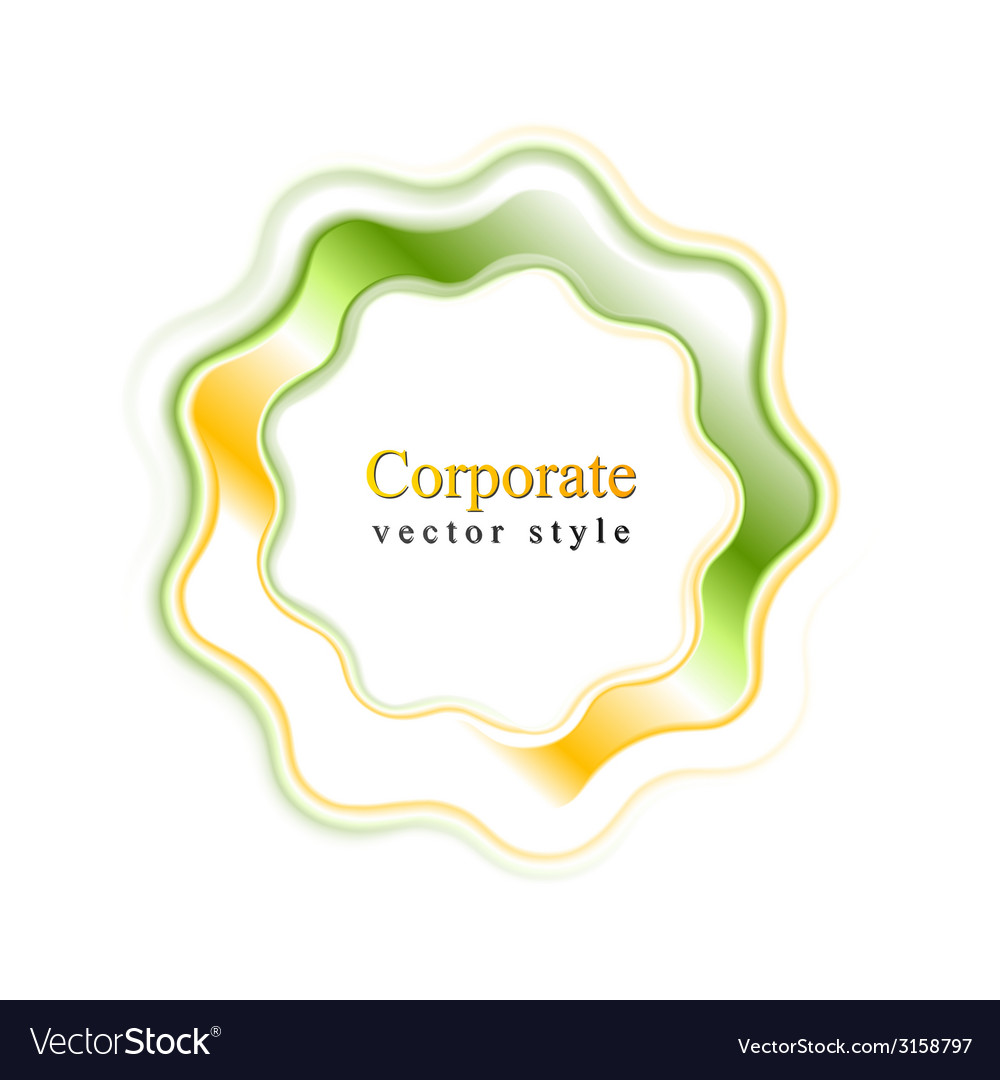 Abstract bright wavy logo ring vector | Price: 1 Credit (USD $1)
