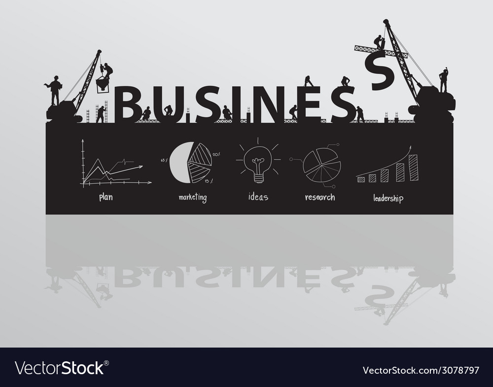 Construction site crane building business text vector | Price: 1 Credit (USD $1)