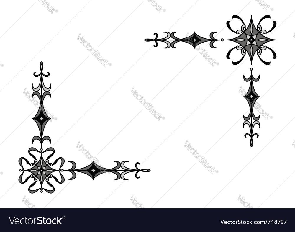 Corner design elements vector   Price: 1 Credit (USD $1)