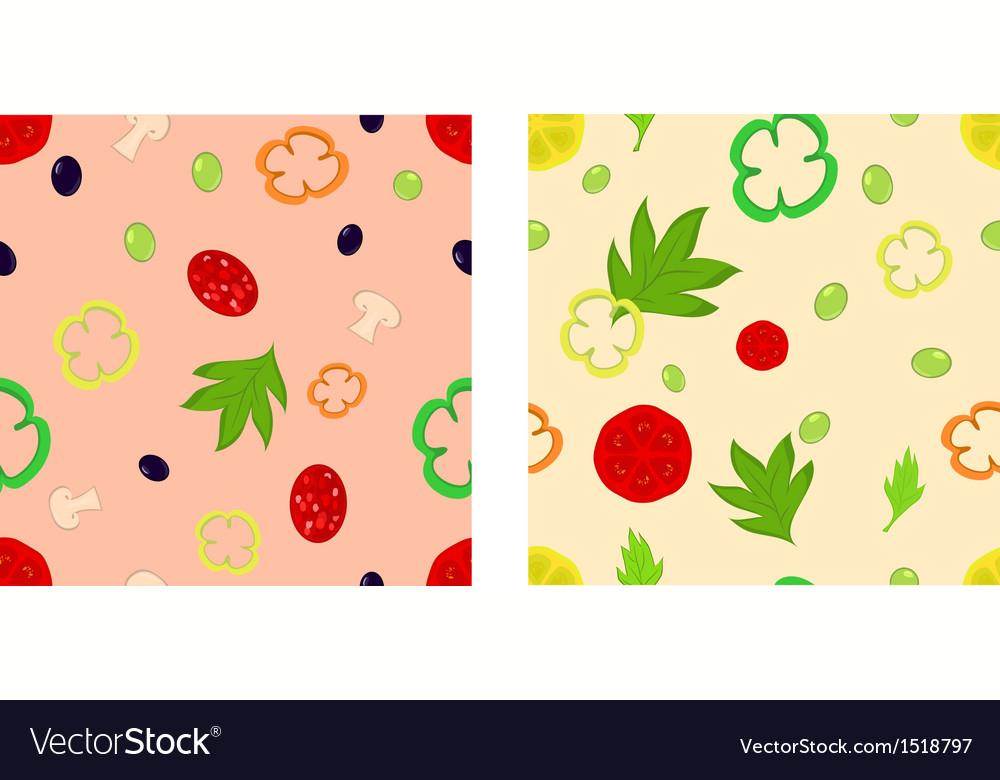 Food seamless vector | Price: 1 Credit (USD $1)