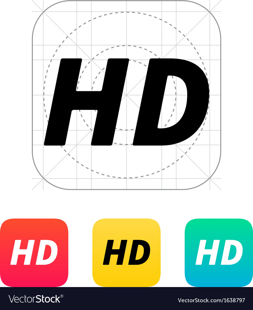 Hd quality video icon vector | Price: 1 Credit (USD $1)