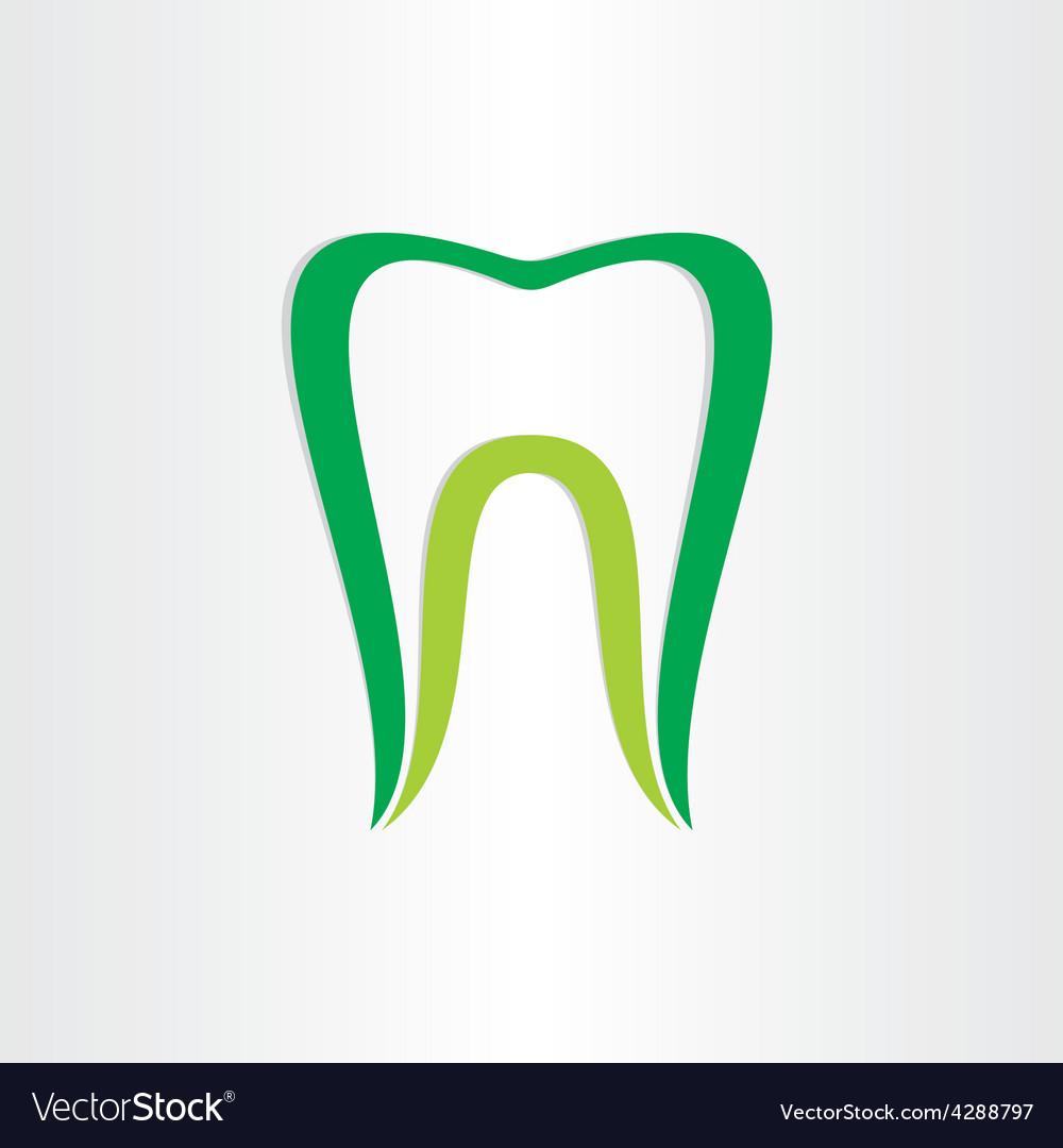 Healthy teeth concept dentist tooth symbol vector | Price: 1 Credit (USD $1)