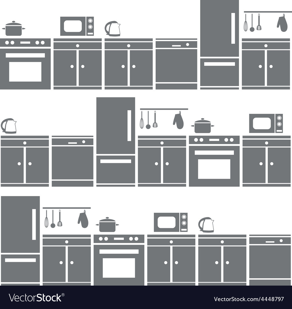 Kitchen equipment seamless pattern vector | Price: 1 Credit (USD $1)